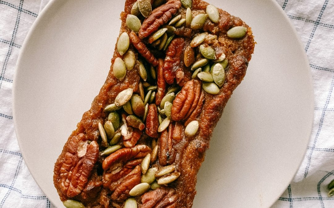 healthy pumpkin and almond butter bread